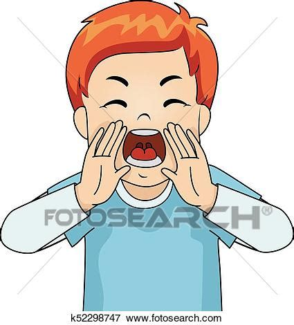 clipart yelling clip art of kid boy yelling angry k52298747 search