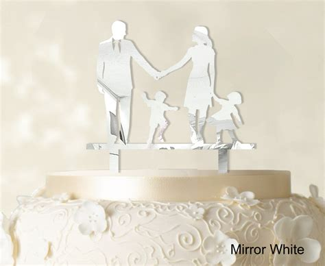 wedding cake topper with child wedding cake topper family silhouette and groom with