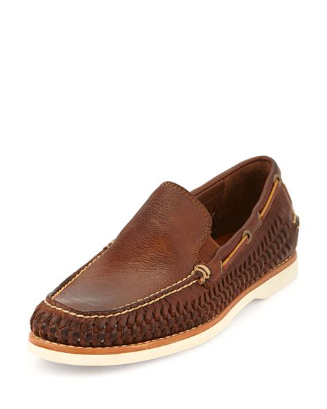frye s loafers frye sully woven venetian loafer cognac in brown for