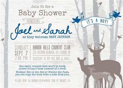 Free Printable Deere Baby Shower Invitations by Deer Baby Shower Invitations Free Printable Baby Shower