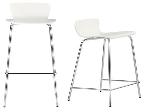 Modern White Bar Stool Felix White Barstools Modern Bar Stools And Counter Stools By Crate Barrel