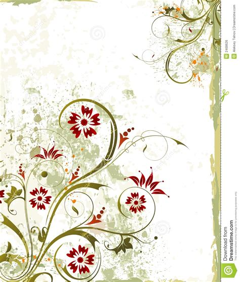 grunge floral frame background royalty free stock images grunge floral background stock vector illustration of frame 2468626