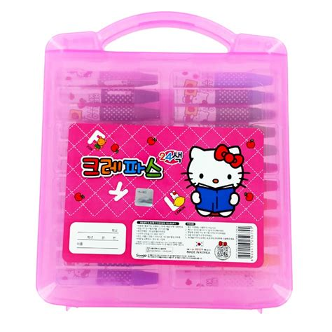 hello kitty coloring pages with crayons hello kitty 24 color crayon set