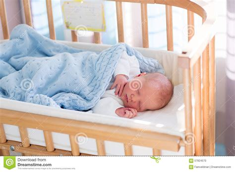 Newborn Baby In Crib by Newborn Baby Boy In Hospital Cot Stock Photo Image 57824570
