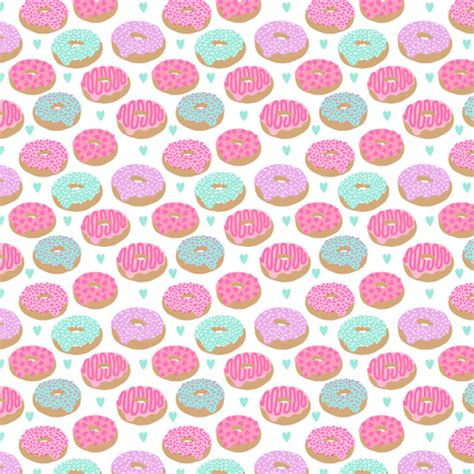 pastel donut pattern pastel donuts cute pink and mint donut design hearts micro
