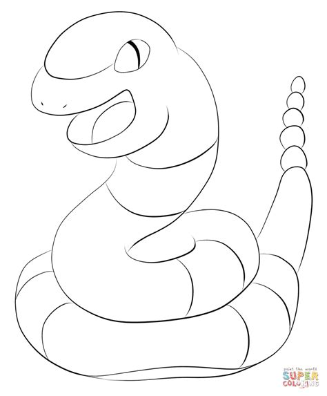 pokemon coloring pages arbok ekans coloring page free printable coloring pages