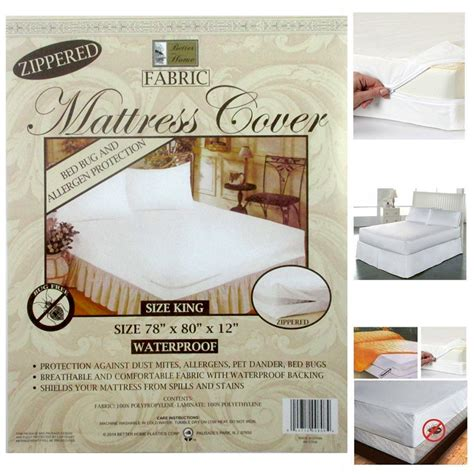 bed bug mattress cover reviews king size fabric zippered mattress cover waterproof bed