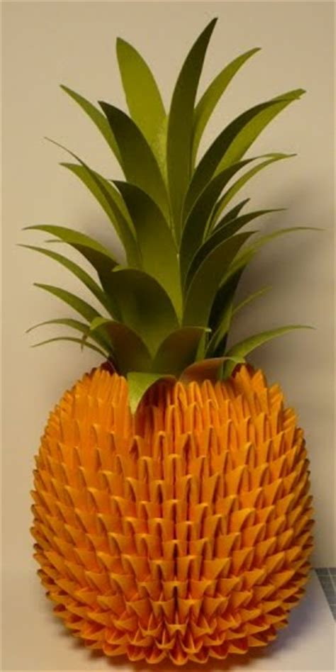 3d origami fruits tutorial let s create origami pineapple tutorial