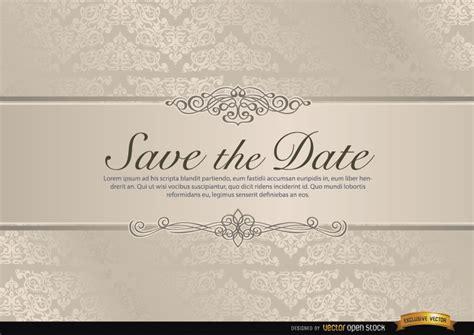 wedding invitation free vector templates wedding invitation with floral riband free vector