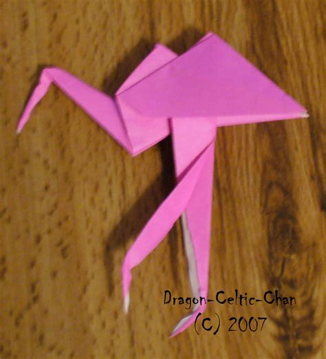 Origami Flamingo - origami flamingo by celtic chan on deviantart
