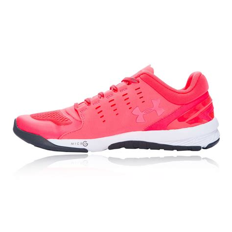 sports shoes womens armour charged stunner womens pink sports