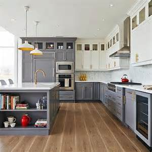 two tone grey kitchen cabinets dropped kitchen ceiling contemporary kitchen