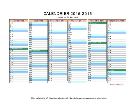 Calendrier Word Calendrier Scolaire Word 2016 Clrdrs