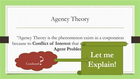 theory explained agency theory explained