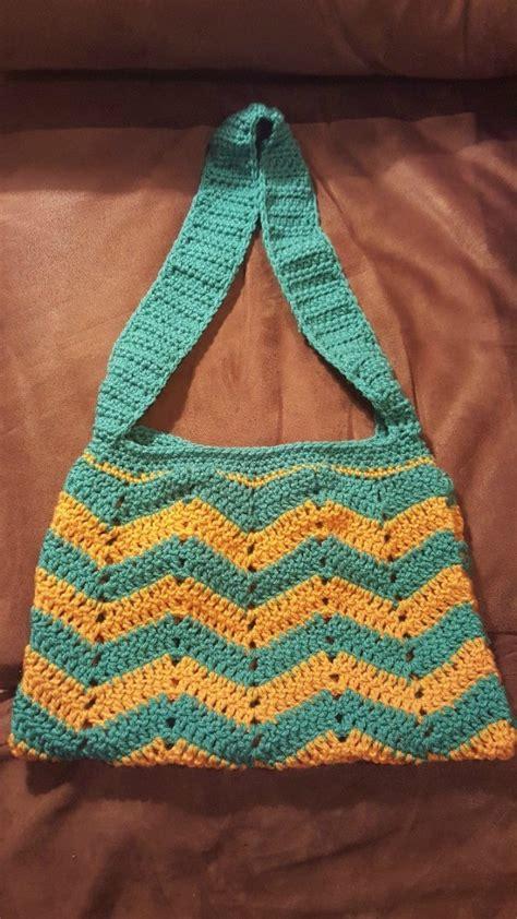 crochet afghan bag pattern ripple crochet purse thriftyfun