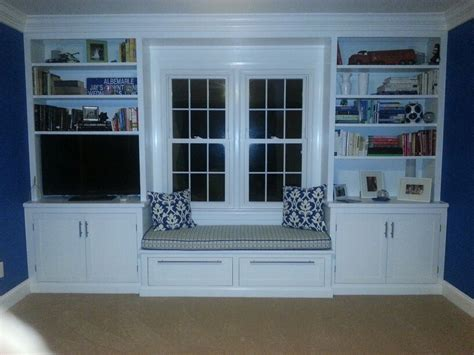 built in window seat built in bookshelves and window seat for the home