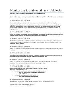 ANÁLISE DE COLIFORMES TOTAIS E FECAIS: Um