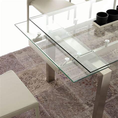 tavolo vetro temperato allungabile tavolo moderno allungabile in vetro temperato e acciaio
