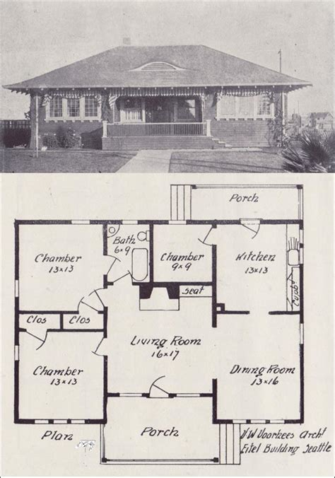 old house plans old vintage house blueprint plans 1908 how to build plans