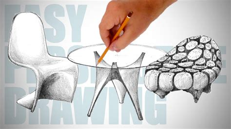 How To Draw Modern Furniture Easy Perspective Drawing 22 Youtube   how to draw modern furniture easy perspective drawing 22