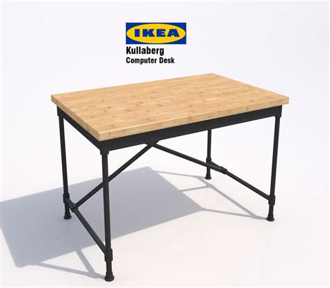 Used Ikea Desk 3d Ikea Kullaberg Computer Desk Model