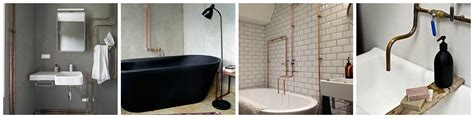 pipeline bathrooms exposed copper pipe in bathrooms kitchens the plumbette