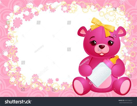 it s a wonderful card template it s a greeting card template with a baby teddy