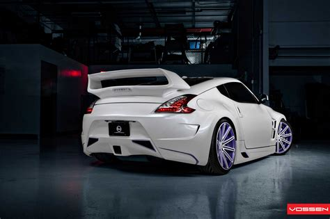 nissan 370z custom rims custom nissan 370z by vossen wheels autoevolution