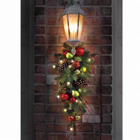 the cordless prelit ornament teardrop sconce outdoor
