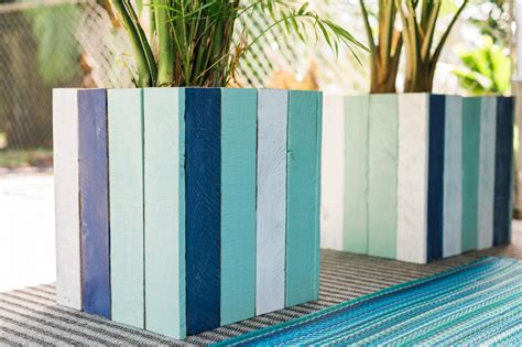 Decorate Pencil Box by Upcycle Old Pallets Into Colorful Planter Boxes Hgtv
