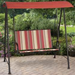 walmart patio swings mainstays stripe sling outdoor swing walmart