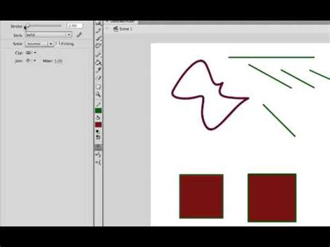 5 Drawing Tools In Adobe Flash by Tutorial Basic Drawing Tools In Adobe Flash Cs6 And