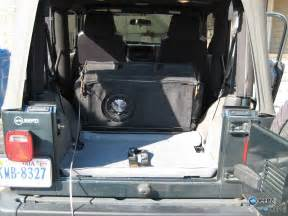 Jeep Subwoofer Subwoofer Inside Of A Jeep Wrangler Rear Seat