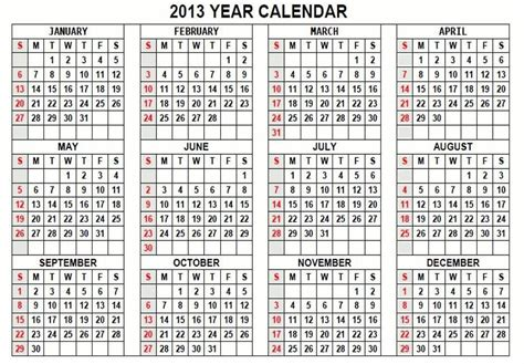 2013 yearly calendar template year calendar printable 2013 calendar template 2016