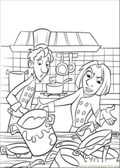 coloring pages all is dirty in the kitchen cartoons