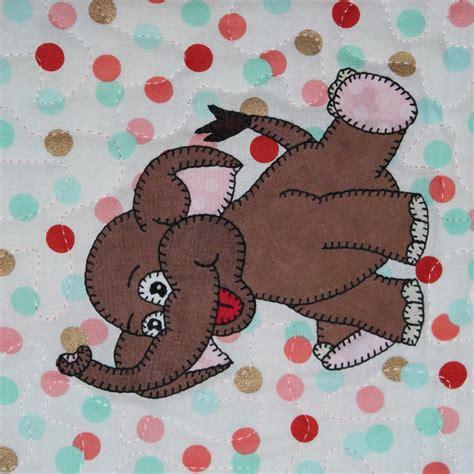 Elephant Applique Quilt Pattern by Elephant Pdf Applique Pattern Baby Quilt Pattern