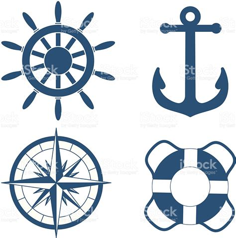 nautical symbols stock vector art amp more images of blue