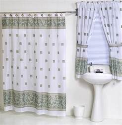 Bathroom Shower Curtains And Window Curtains Jade Green Fabric Shower Curtain Matching Window Curtain