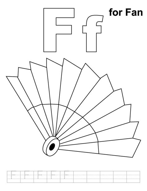 free coloring pages of with fan
