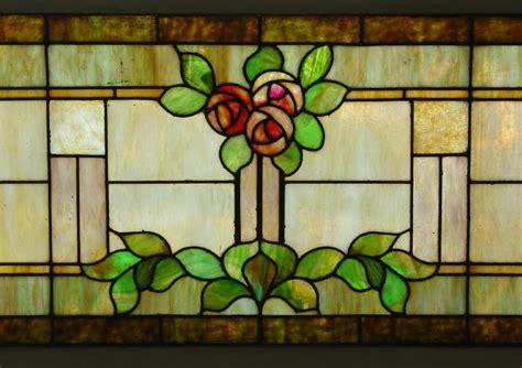 craftsman stained glass voorhees craftsman mission oak furniture large vintage