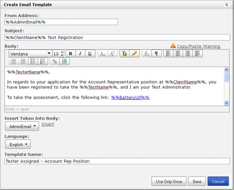Email Templates Pearson Assessment Support How To Create A Fillable Email Template In Outlook