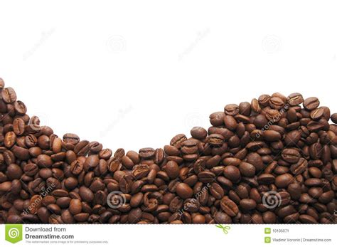 Black Coffee Aromatic aromatic coffee beans on white background stock image