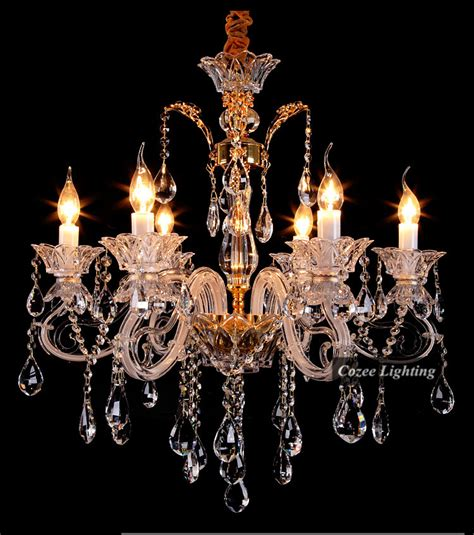 Cheap Candle Chandeliers Free Shipping Wholesale Modern Luxury K9 Glass Chandeliers Candle Chandelier Hanging