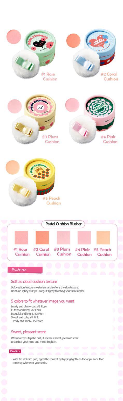 Thefaceshop Lovely Me Ex Pastel Cushion Blusher 1 the shop lovely me ex pastel cushion blusher 5g ebay