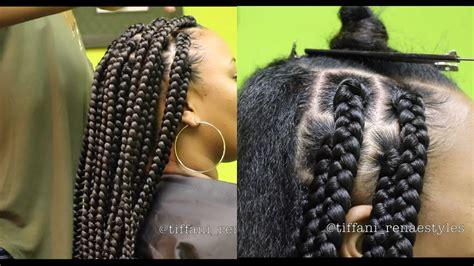 define wax to keep cornrows how to jumbo box braids youtube