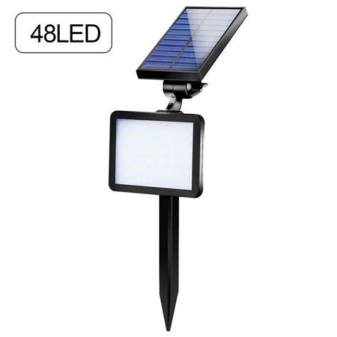 Led Lu Taman Energi Solar Black lu taman bright energi solar panel 48 led black