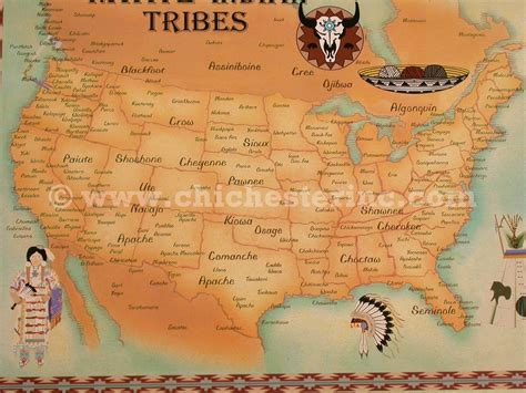 america map indian tribes trading post postcards or tribe maps or