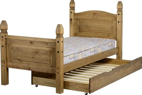 single bed with pull out bed corona under bed pull out for pine single bed 3ft l