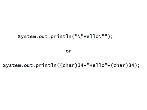 java pattern double quotes how to print double quotes in java 6 steps wikihow