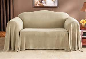 sure fit plush furniture throw